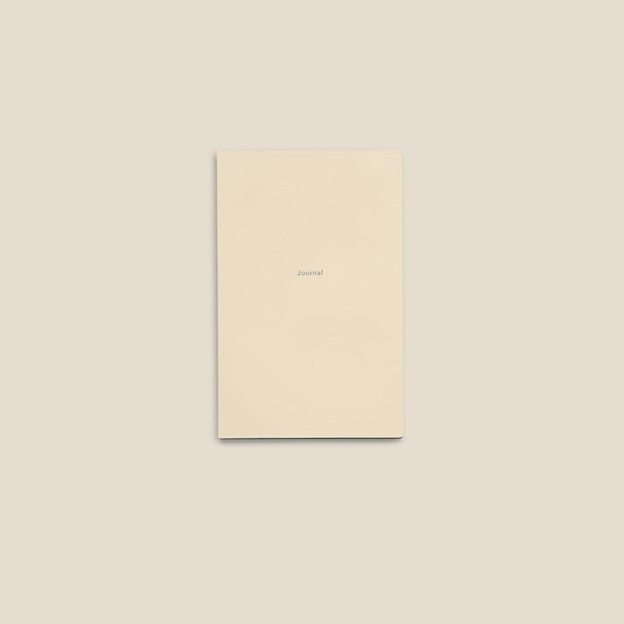 Journal S Notebook plain White Truffle