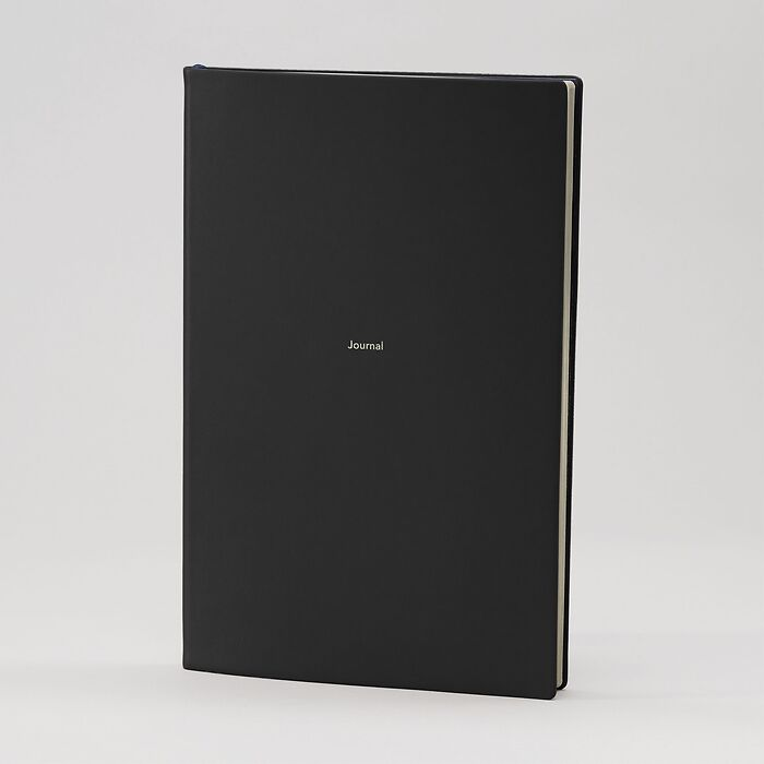 Journal L Notebook ruled Nero