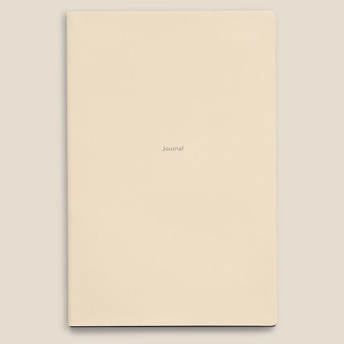 Journal L Notebook ruled White Truffle