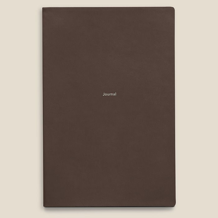 Journal L Notebook plain French Roast