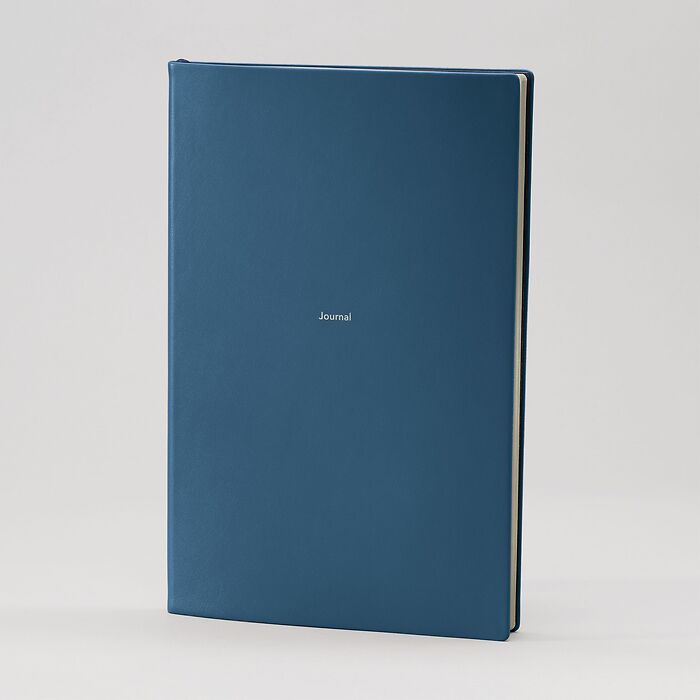Journal L Notebook plain Prussian Blue