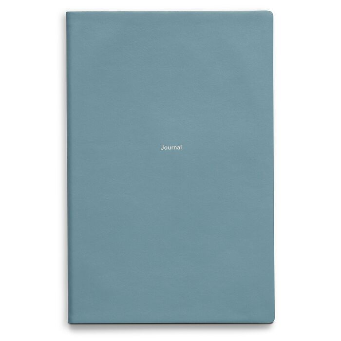 Journal L Notebook plain Pigeon Blue
