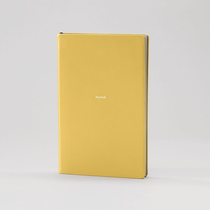 Notebook Journal M plain Mustard