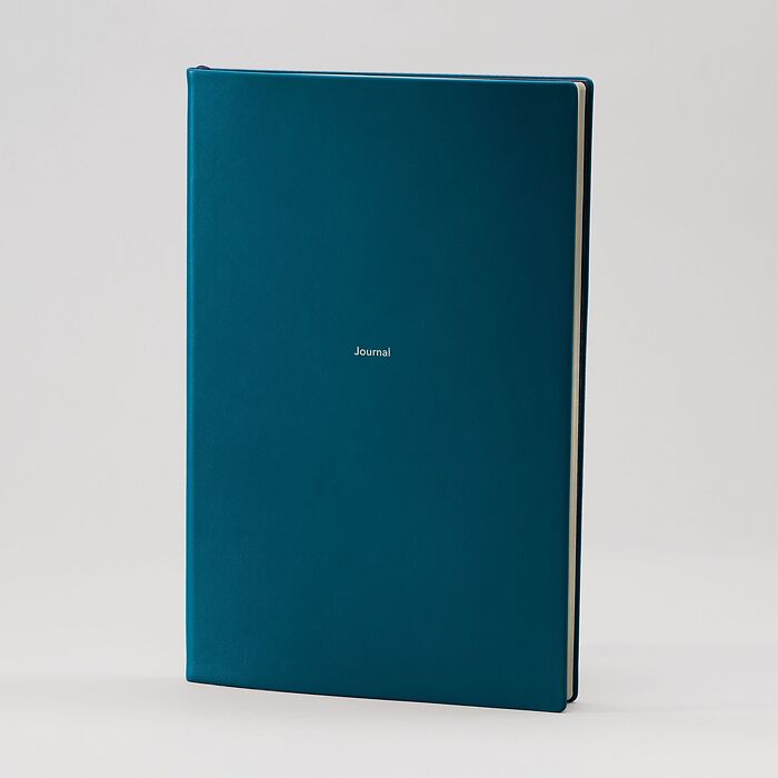 Journal L plain Petrol Green