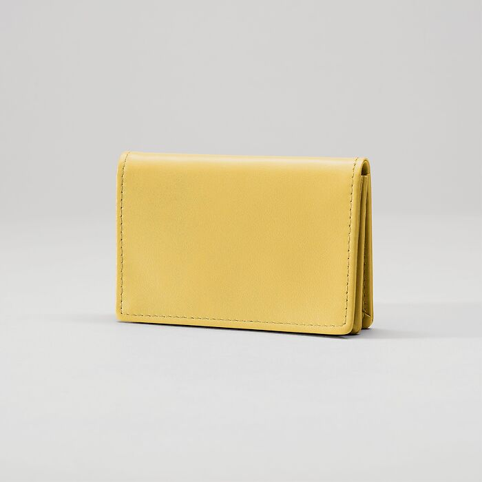 Business Card Caddy Mustard