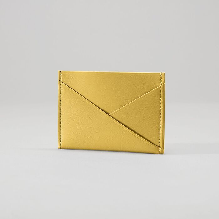 Credit Card Caddy Mustard