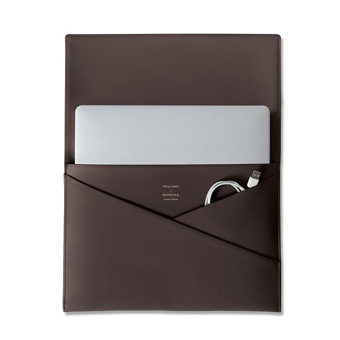 Treuleben X Monocle Laptop Cache Brown